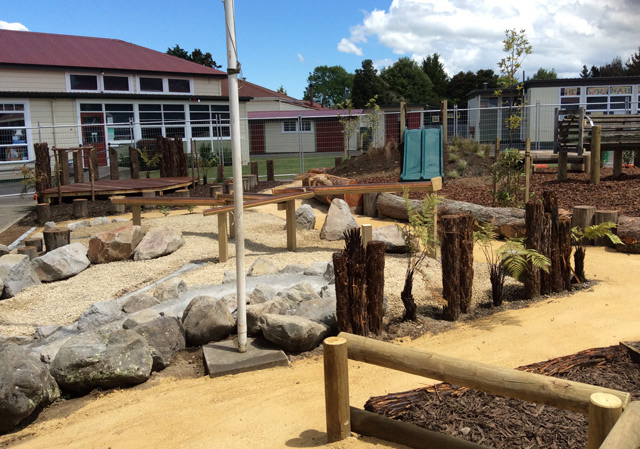 Compass Playgrounds Dannevirke Primary Junior Play Area